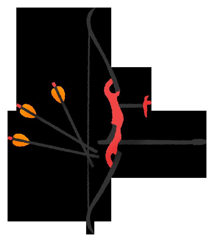 アーチェリーの弓矢の無料イラスト フリーイラスト素材集 ジャパクリップ