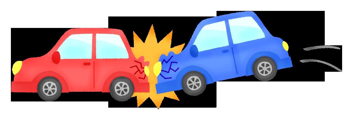 自動車追突事故の無料イラスト   フリーイラスト素材集 ジャパクリップ