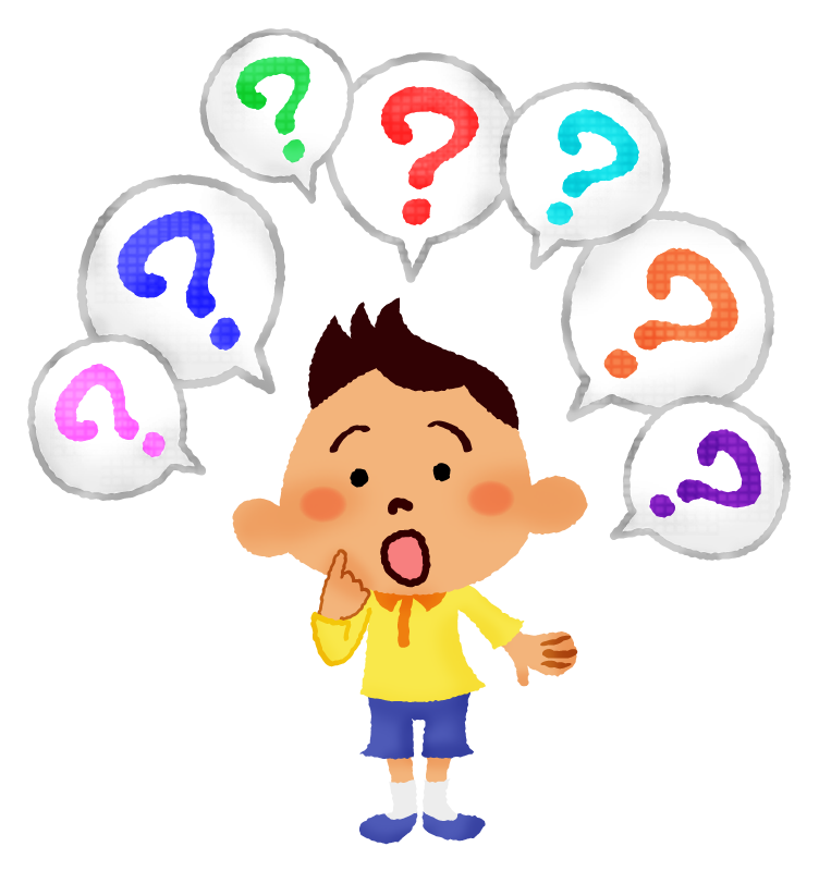 質問をする男の子の無料イラスト | フリーイラスト素材集 ジャパクリップ