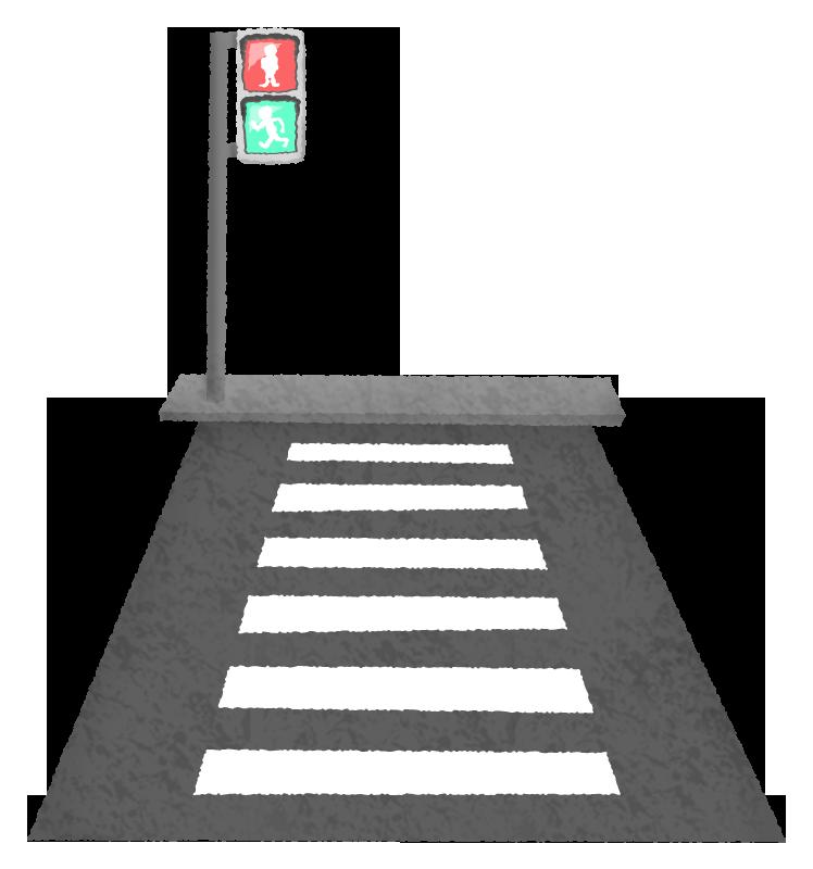 横断歩道のかわいいフリーイラスト素材