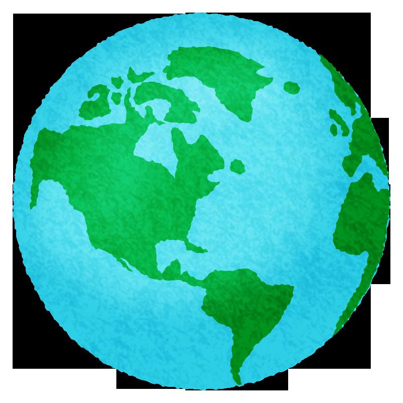 地球の無料イラスト フリーイラスト素材集 ジャパクリップ
