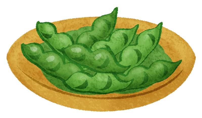 Edamame (Boiled green soybeans)