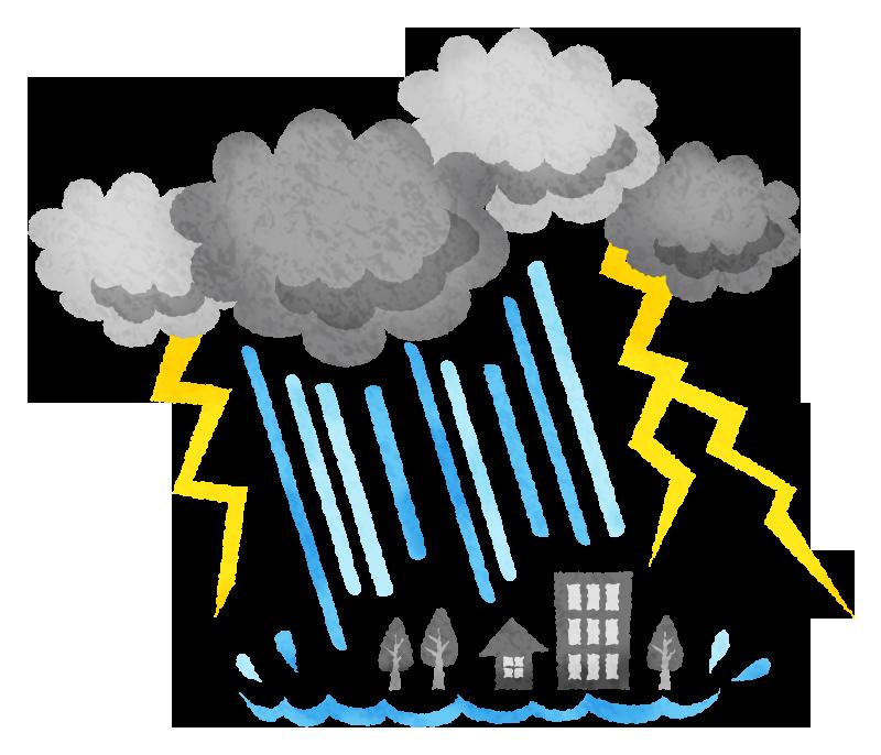 大雨 豪雨の無料イラスト フリーイラスト素材集 ジャパクリップ