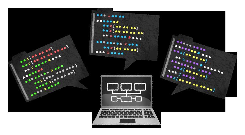 プログラミングの無料イラスト | フリーイラスト素材集 ジャパクリップ