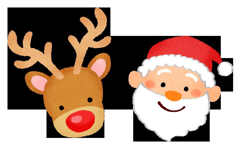 サンタクロースとトナカイの無料イラスト フリーイラスト素材集 ジャパクリップ