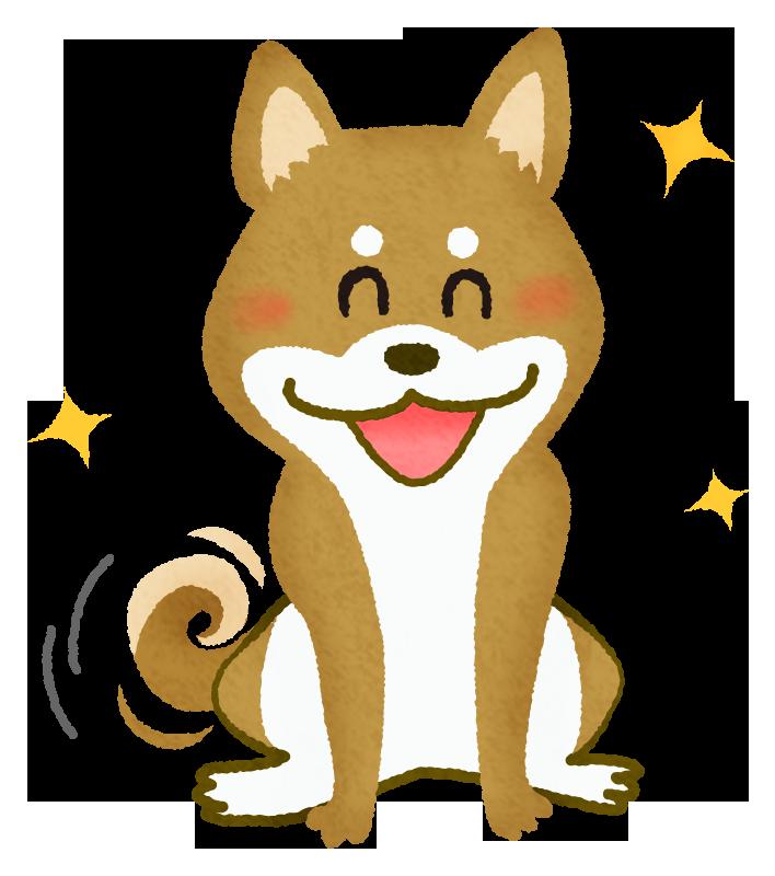喜ぶ柴犬の無料イラスト フリーイラスト素材集 ジャパクリップ
