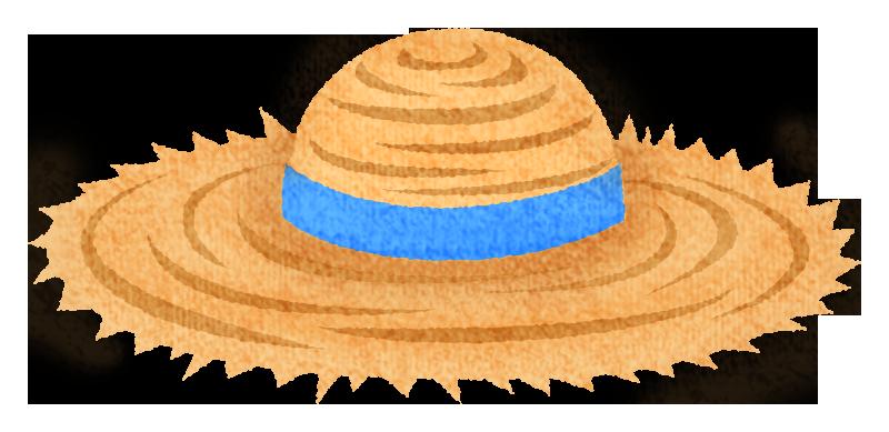 麦わら帽子の無料イラスト フリーイラスト素材集 ジャパクリップ