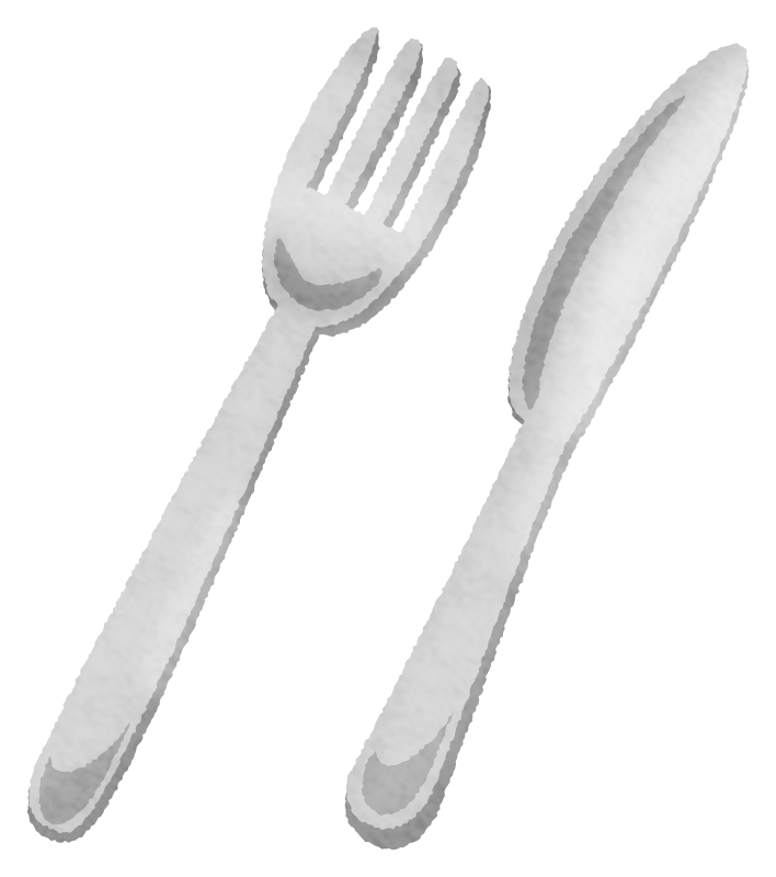 Table knife and fork