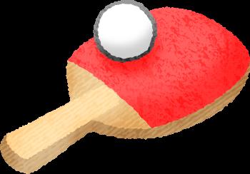 卓球ラケットとボールの無料イラスト フリーイラスト素材集 ジャパクリップ