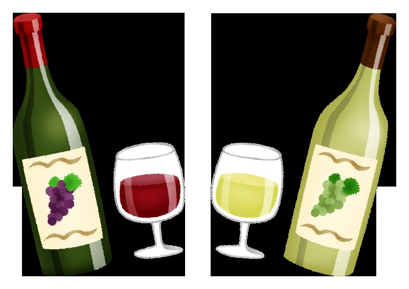 赤ワインと白ワインの無料イラスト フリーイラスト素材集 ジャパクリップ