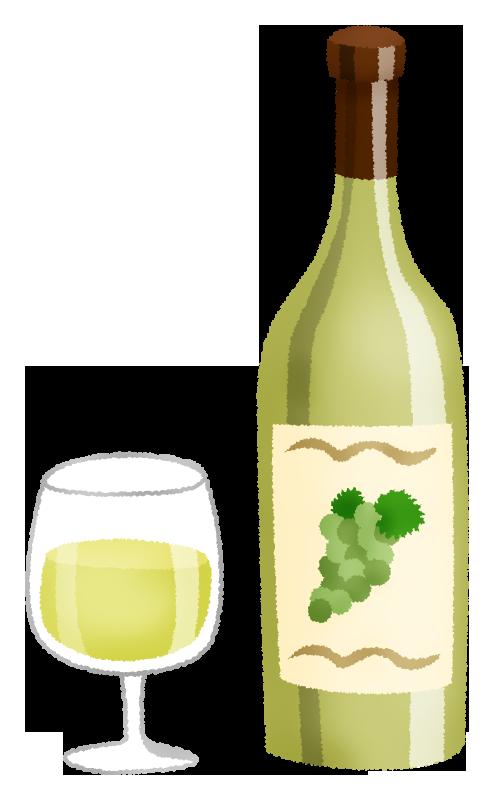 白ワインの無料イラスト フリーイラスト素材集 ジャパクリップ
