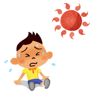 Boy with heatstroke