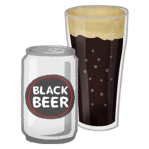 Canned beer and glass (dark)