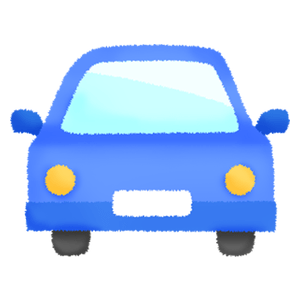 Blue car (front view)