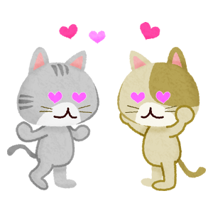 Cats falling in love