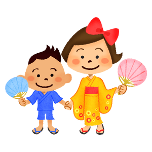 Children in yukata
