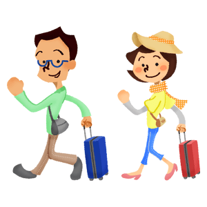 Couple who travel abroad