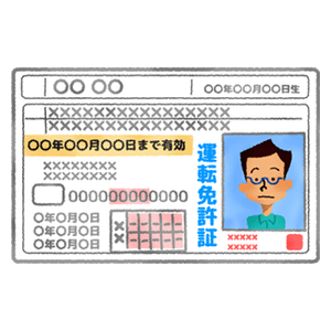 Driver's license (man)