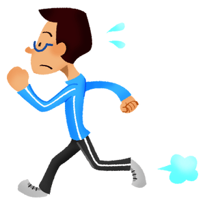 Man doing running exercise