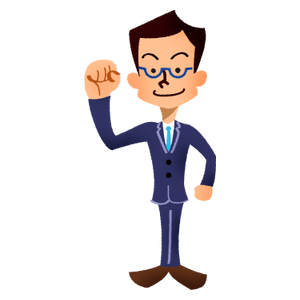 Businessman pumping fist