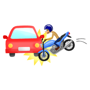 car-motorcycle collision