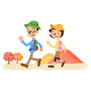 Couple hiking (autumn)