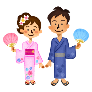 Couple in yukata