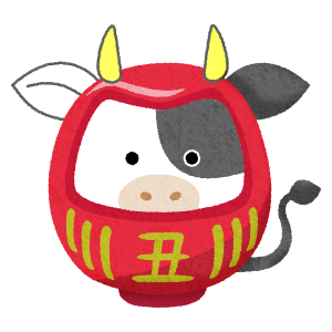 cow daruma (New Year's illustration)