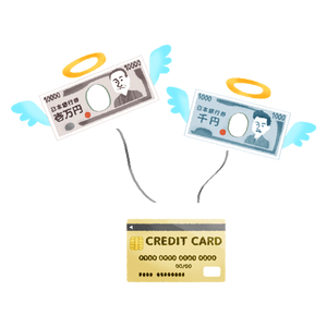 Flying money (credit card payment)