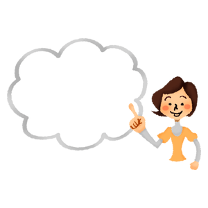 Woman with speech bubble