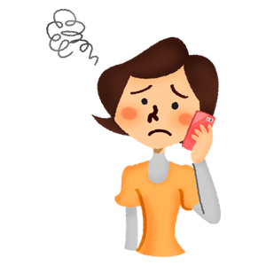 Annoyed woman talking on cell phone