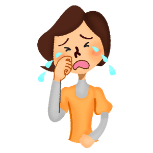 Woman crying hard