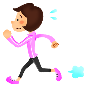 Woman doing running exercise
