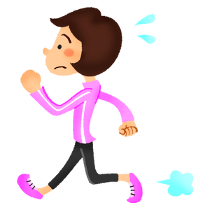 Woman doing walking exercise