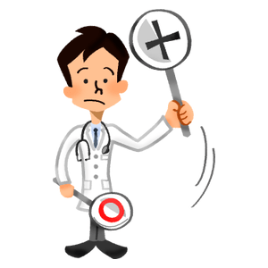 Doctor holding signboard of
