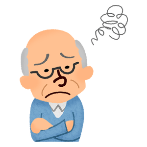 Annoyed elderly man