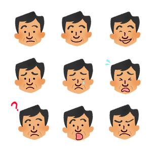 男性顔 アバター顔と服の組み合わせ フリーイラスト素材集