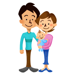 Family (couple and baby)