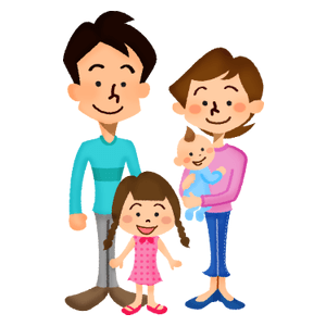 Family (couple with girl and baby)