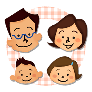 Family with happy faces