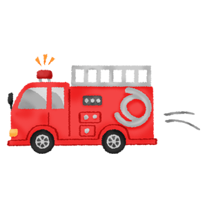 Fire truck in motion