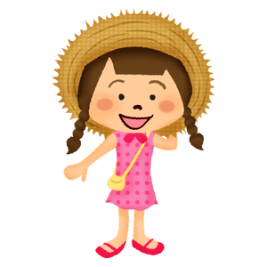 Girl in straw hat