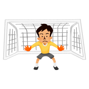 Goalkeeper in men's soccer