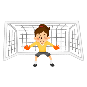 Goalkeeper in women's soccer
