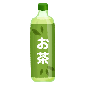 Green tea in plastic bottle
