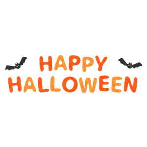 Halloween lettering (orange)