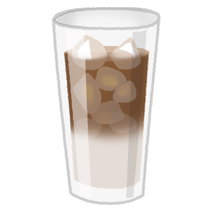 Iced cafe au lait