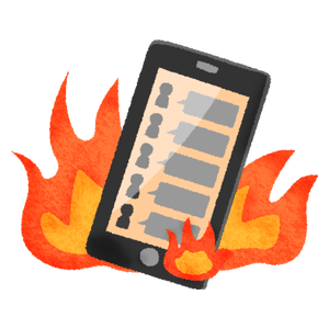 Internet flaming (cell phone)