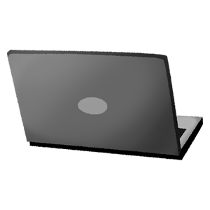 Laptop (back view)