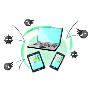 Laptop and mobile devices protected from viruses